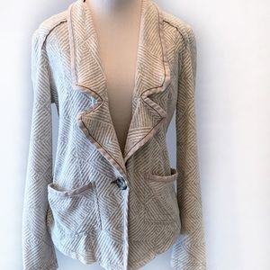 Free People Soft Unstructured Chevron Blazer ~ S